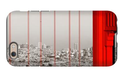 Golden Gate Bridge Closeup Panorama in San Francisco as the Famous Landmark. iPhone 6 Case by Songquan Deng