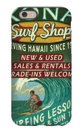 Kona, Hawaii - Surf Shop iPhone 6s Case by  Lantern Press