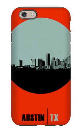 Austin Circle Poster 2 iPhone 6 Case by  NaxArt