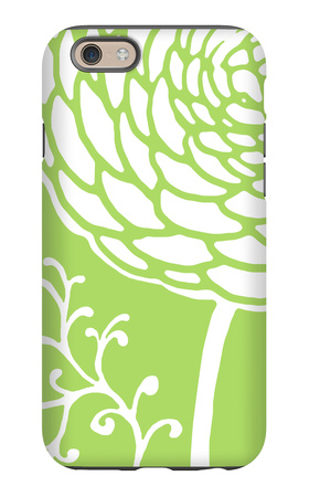 White and Green Flower iPhone 6 Case