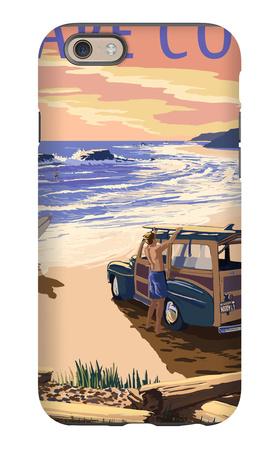Cape Cod, Massachusetts - Woody on Beach iPhone 6s Case by  Lantern Press