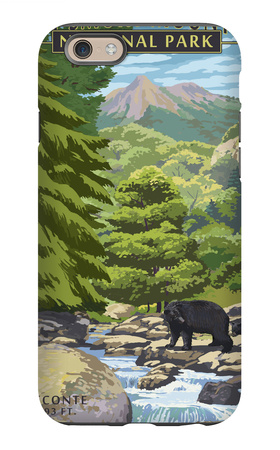 Leconte Creek and Mt. Leconte - Great Smoky Mountains National Park, TN iPhone 6s Case by  Lantern Press
