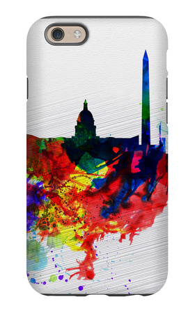 Washington DC Watercolor Skyline 1 iPhone 6 Case by  NaxArt