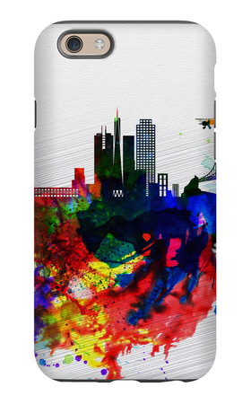 San Francisco Watercolor Skyline 1 iPhone 6 Case by  NaxArt