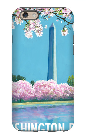 Washington DC, Washington Monument iPhone 6 Case by  Lantern Press
