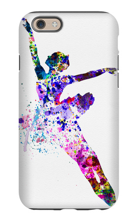 Flying Ballerina Watercolor 1 iPhone 6s Case by Irina March