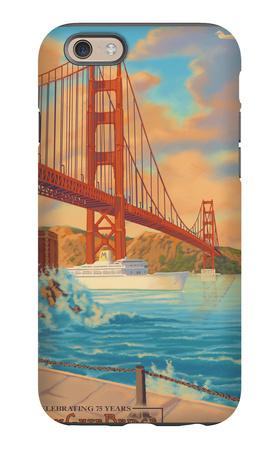 Golden Gate Bridge Sunset - 75th Anniversary - San Francisco, CA iPhone 6 Case by  Lantern Press