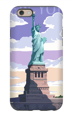 Statue of Liberty National Monument - New York City, NY iPhone 6s Case by  Lantern Press