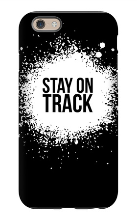 Stay on Track Black iPhone 6s Case by  NaxArt