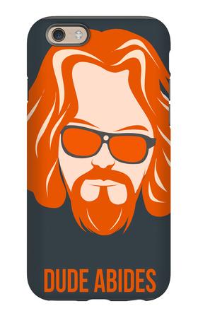 Dude Abides Orange Poster iPhone 6s Case by Anna Malkin