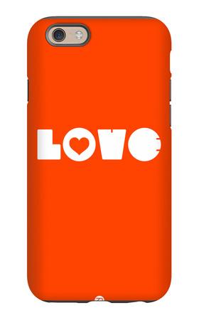 Love Orange iPhone 6s Case by  NaxArt