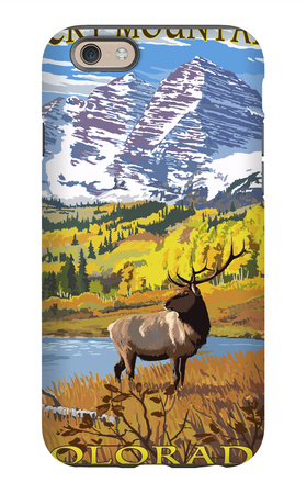 Maroon Bells - Rocky Mountain National Park iPhone 6s Case by  Lantern Press