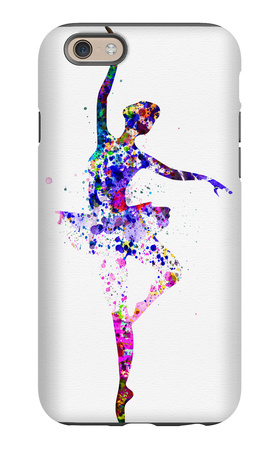 Ballerina Dancing Watercolor 2 iPhone 6 Case by Irina March