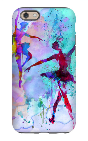 Two Dancing Ballerinas Watercolor 2 iPhone 6 Case by Irina March