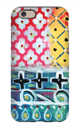 Pattern Painting VI iPhone 6s Case by Linda Woods