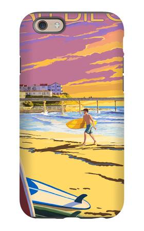 San Diego, California - Beach and Pier iPhone 6 Case by  Lantern Press