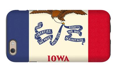 Iowa State Flag iPhone 6 Case by  Lantern Press
