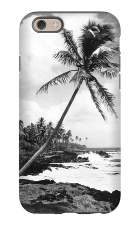 Hawaii - Palms along the Beach iPhone 6 Case by  Lantern Press