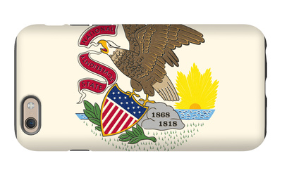 Illinois State Flag iPhone 6 Case by  Lantern Press