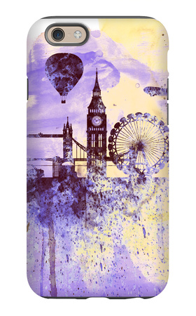 London Watercolor Skyline iPhone 6 Case by  NaxArt