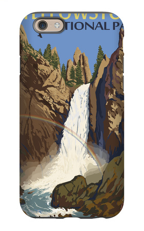 Tower Falls - Yellowstone National Park iPhone 6 Case by  Lantern Press