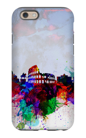 Rome Watercolor Skyline iPhone 6 Case by  NaxArt
