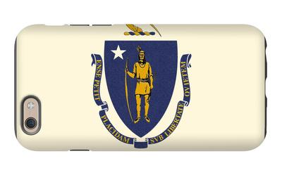Massachusetts State Flag iPhone 6 Case by  Lantern Press