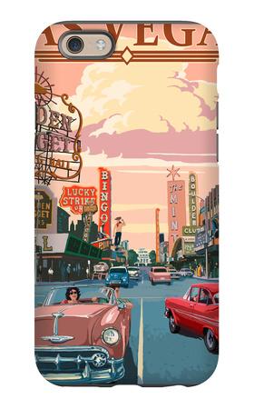 Las Vegas Old Strip Scene iPhone 6s Case by  Lantern Press