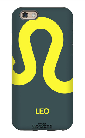 Leo Zodiac Sign Yellow iPhone 6 Case by  NaxArt