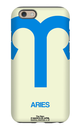 Aries Zodiac Sign Blue iPhone 6 Case by  NaxArt