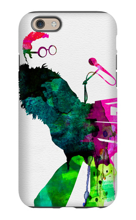 Elton Watercolor iPhone 6 Case by Lora Feldman