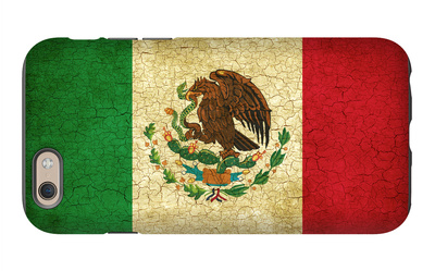 Grunge Flag Of Mexico iPhone 6 Case by Graphic Design Resources