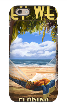 Key West, Florida - Hammock Scene iPhone 6s Case by  Lantern Press