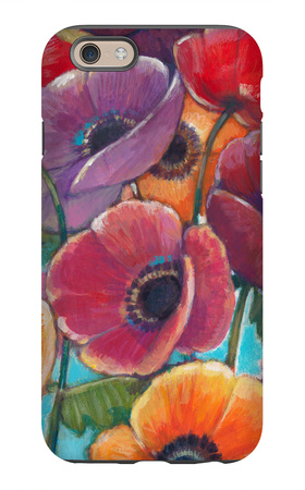 Electric Poppies 1 iPhone 6 Case by Norman Wyatt Jr.