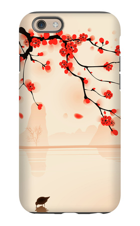 Oriental Style Painting, Plum Blossom In Spring iPhone 6 Case by  ori-artiste