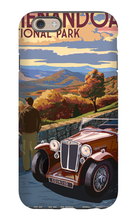 Shenandoah National Park, Virginia - Skyline Drive iPhone 6s Case by  Lantern Press