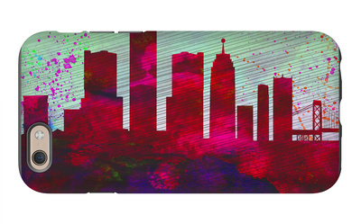 Detroit City Skyline iPhone 6s Case by  NaxArt