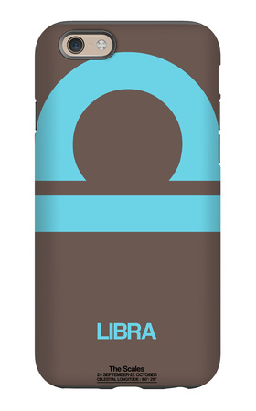 Libra Zodiac Sign Blue iPhone 6 Case by  NaxArt