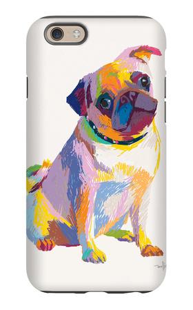 Pug Sketch iPhone 6 Case by Patti Mollica