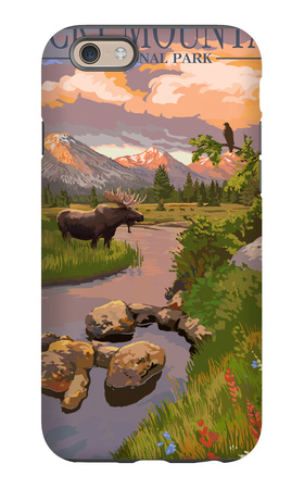 Moose and Meadow – Rocky Mountain National Park iPhone 6 Case by  Lantern Press