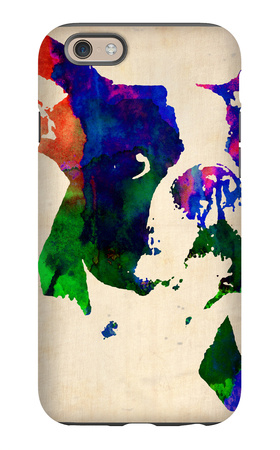 Boston Terrier Watercolor iPhone 6 Case by  NaxArt
