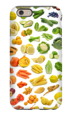 Collection Of Fruits And Vegetables iPhone 6 Case by  egal