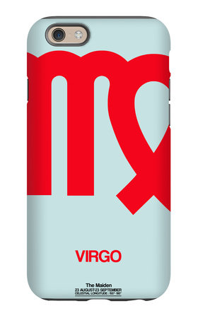 Virgo Zodiac Sign Red iPhone 6 Case by  NaxArt