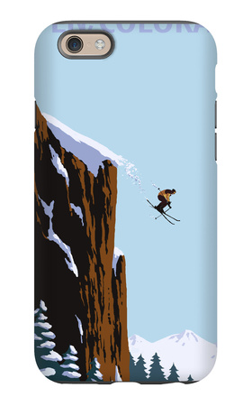 Skier Jumping - Aspen, Colorado iPhone 6s Case by  Lantern Press