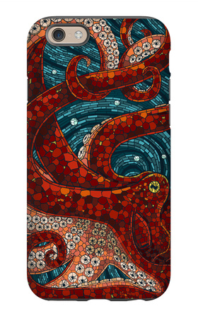 Octopus - Paper Mosaic iPhone 6s Case by  Lantern Press