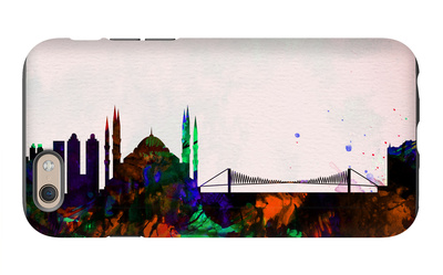 Istanbul City Skyline iPhone 6 Case by  NaxArt