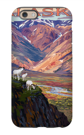 Denali National Park, Alaska - Polychrome Pass iPhone 6s Case by  Lantern Press