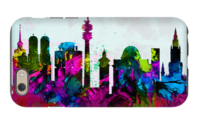 Munich City Skyline iPhone 6 Case by  NaxArt