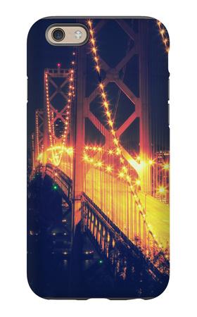 Vintage Bay Bridge Scene iPhone 6 Case by Vincent James