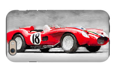 1957 Ferrari Testarossa Watercolor iPhone 6 Case by  NaxArt